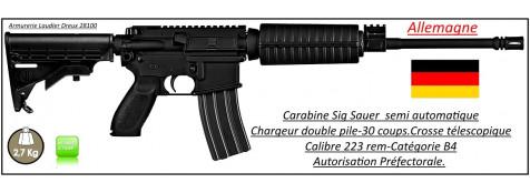 Carabine-Sig Sauer-M400-SRP-Semi-automatique-Allemagne-Calibre 5.56 -223 Rem-Catégorie B4-Ref 24395
