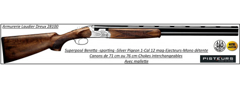 "Superposé-Beretta-Silver-Pigeon-1-Sporting-Parcours de chasse-Cal 12 mag-Canons 76 cm-""Promotion""-Ref 24438"