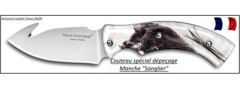 Couteau-dépecer-Claude Dozorme-Gamme spéciale chasse-Sanglier--Ref 25222