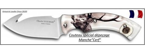 Couteau-dépecer-Claude Dozorme-Gamme spéciale chasse-CERF-Ref 25225