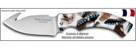 Couteau-dépecer-Claude Dozorme-Gamme spéciale chasse-Plumes-Ref 25226