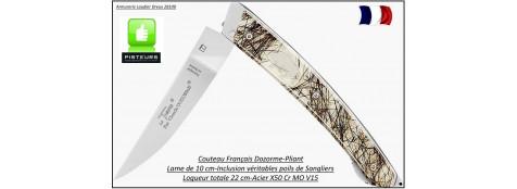 Couteau Le Thiers Pliant Claude Dozorme Suie Sangliers-Ref 25237