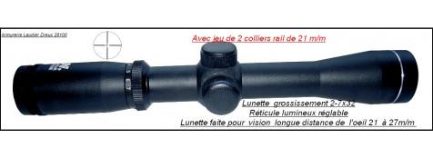 Lunette-Scout-Pour Mosin Nagant-NC Star -Grossissement-2-7X32-Longue Distance de l'oeil -21cm a 27cm--Ref 25608