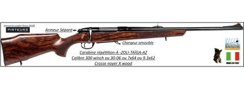 Carabine-A-ZOLI-Taïga-AZ-répétition-Calibre 30-06-Bois-X-wood-armeur séparé-chargeur amovible-Ref 25870