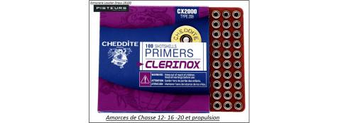 Amorces chasse Cheddite 209-Boite de 100-Ref 2592