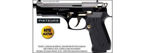 """Pistolet-alarme-Ekol- DEFENSE-Semi auto -Firat-magnum-à blanc /gaz-Type Beretta 92- Bronzé-OR -Cal. 9 m/m-""""Promotion""""-Ref 26890"""