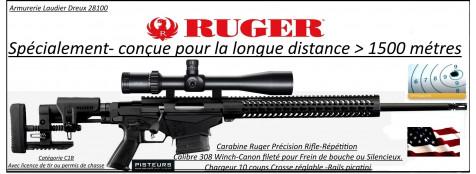 Carabine Ruger Précision rifle Calibre 308 winch Répétition Crosse réglable-pliante sur le coté-rails picatini +Frein bouche-Promotion-Ref 33071