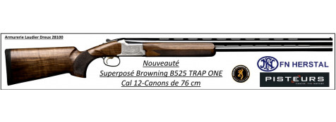 Superposé-Browning- B525 -Trap-ONE-Cal 12/70 -Canons de 76 cm-Ref 27318