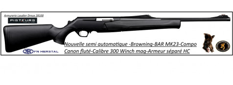 "Browning-®MK3-HC-Semi automatique-composite-Calibre 300 winch mag-bande-battue-""Promotion""-Ref 27320"