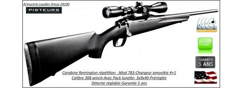 Carabine-Remington-783-Calibre-308 winch-Répétition-avec-Lunette 3x9x40-Promotion-Ref 27512