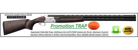Superposé-Ball trap-Yildiz-MX TRAP-Unifrance-Cal 12/70-Busc réglable- Ejecteurs- Mono-détente- 5 Chokes interchangeables- Canons 76cm-Promotion-Ref 27868