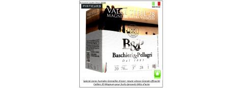 Cartouches-BASCHIERI-&-PELLAGRI-Valle-STEEL-acier-Cal 20/76-spécial-zone-humide-28-grammes-Haute vitesse-Numéro 5-Bourre jupe-Ref 28069