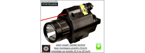 Laser-rouge-+ lampe -Hawke-optics-avec montages-Ref 28684