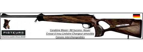 Carabine Blaser R8  Modèle SUCCESS noyer Répétition Linéaire Chargeur amovible Calibres-300 winch mag-ou-9.3x62- ou-30-06- ou-7x64-Promotion
