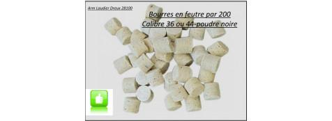 Bourres- feutre- pour- révolvers-poudre noire-Cal. 36 ou 44 -sachets de 200