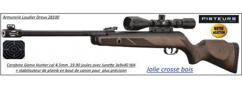 Carabine Gamo 440 Hunter AS 19.90 joules+ Lunette Gamo 3x9x40wr + frein bouche air stopper- Promotion-Ref 29253