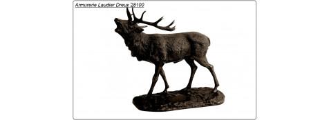 """Cerf en Bronze grand modèle-47cm x 37cm-""""Promotion""""-Ref 7073-CA00410"""