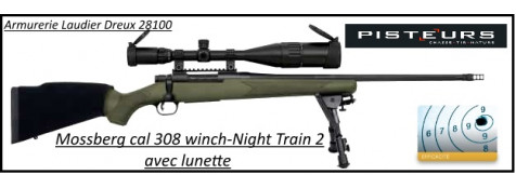 Carabine Mossberg night patriot train 2 Calibre-308 winch-Pack-lunette-bipied-frein -bouche-Répétition-TIRS-LONGUES-DISTANCES-Promotion-Ref 30139