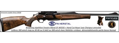 Browning-Maral-SF-WOOD-HC-Canon-fluté-Linéaire-répétition-Cal-300 winch mag-Plaquettes-Noyer-crosse-grade-4-Promotion-Ref 30416-35405