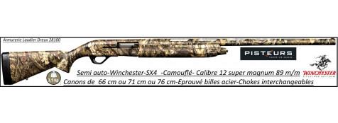 Semi automatique Winchester  Sx4 Camouflé Mobuc  calibre 12/89-Canon 76cm-Chokes-interchangeables-Eprouvé billes d'acier-Promotion-Ref 30456