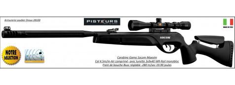 Carabine-Gamo-socom-Maxxim-air comprimé-Cal 4.5mm -19.90 joules+lunette 3x9x40 WR+frein bouche + busc réglable- Promotion-Ref 30697