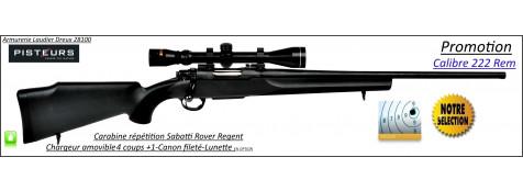 Carabine Sabatti Rover Regent Répétition CalIbre 222 rem CANON-FILETE-56 cm-Promotion-Ref 35572