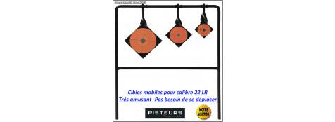 Cibles-mobiles-22-LR-3 -objectifs-Pisteur-Ref 31287