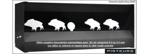 Cibles mobiles basculantes automatique air comprimé 4 sangliers -Promotion-Ref 31291