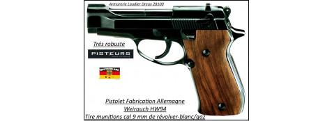 Pistolet alarme HW94 weihrauch Allemand à blanc /gaz- Bronzé -Cal. 9 m/mR-Ref 31315