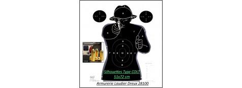 """Cibles silhouette type """"Colt""""-RSN1 Cartonnée.51X72 cm-Paquet de 10 cibles-Ref 36876"""