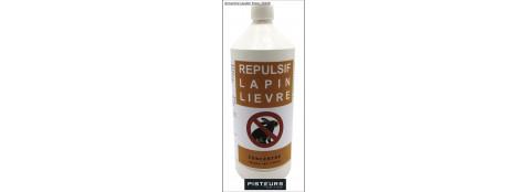 Répulsif-Lapin-Liévre-100/100-biodégradable-1 litre-Ref 31857