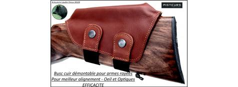 Busc cuir pour crosses carabines pour tir avec optiques-Ref 32236