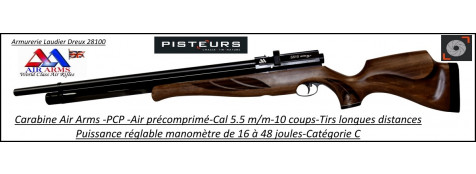 Carabine air comprimé PCP Air Arms S510 extra superlight Calibre 5.5m/m-Puissance 16-48  joules-Tirs longues distances-Promotion-Ref 32581