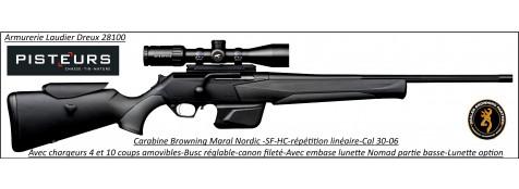 Browning-Maral-SF-nordic-HC-composite-Canon-fluté-Linéaire-répétition-Cal-30-06-canon fileté-busc-réglable-Promotion-Ref 32836
