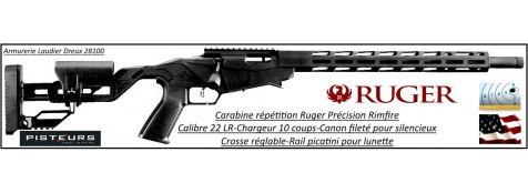 Carabine-Ruger-précision-rimfire-répétition-cal 22 Lr-chargeur 10 coups-Promotion-Ref 33067