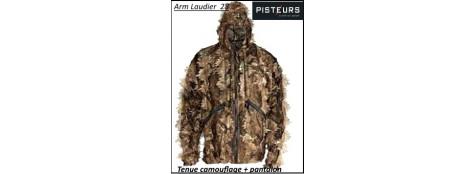 Tenue-camouflage-Comprenant- une veste et un pantalon +capuche-Promotion-Ref 13680-33191
