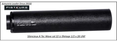 Silencieux  A Tec modèle wave calibre 22 Lr-1/2x28 UNF -Ref 33262