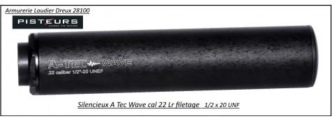 Silencieux  A Tec modèle wave calibre 22 Lr-1/2x20 UNF -Ref 33261