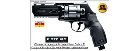 Revolver walther T4E HDR CaIibre 50- balles Caoutchouc DEFENSE 6 coups-11 joules-VENTE LIBRE-Promotion-Ref 35040