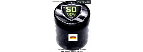 Balles-cal.50-caoutchouc-légères-pour-révolver-défense-T4E6HDR-UMAREX-par-100-Ref 35057