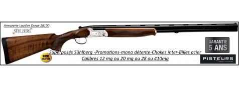 Superposé Suhlberg  Silver Pisteurs Calibre 28/70-Mono-détente- chokes inter-Promotion-Ref 35163