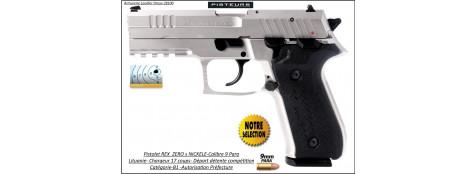 Pistolet REX ZERO1 S NICKELE Calibre-9mm-para 17 coups-Catégorie B1-Autorisation-Préfecture-Promotion-Ref 35171