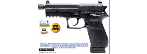 Pistolet REX ZERO1 Tactical noir Calibre 9mm para fileté 20 coups-Catégorie B1-Autorisation-Préfecture-Promotion-Ref 35183