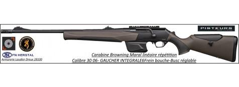 Browning Maral-SF composite brown HC CaIibre 30-06 GAUCHER Canon-fluté Linéaire répétition canon fileté frein bouche busc réglable-Promotion-Ref 35402
