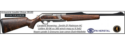 Browning Zenith SF Platinium HC-Semi automatique-noyer-grade 5-Calibre-30-06-Promotion-Ref 35548