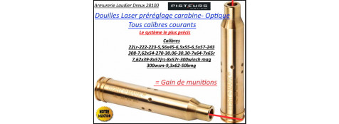 Douille LASER Sight Mark carabine calibre 30.06-270- 25.06 réglage lunette- Ref 37039