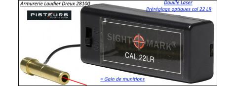 Douille LASER Sight Mark carabine calibre 22 Lr  réglage lunette- Ref 37050
