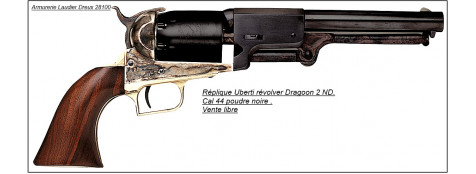 "Révolver Uberti ""DRAGOON 2 ND'.Cal 44 poudre noire.Ref 3725"
