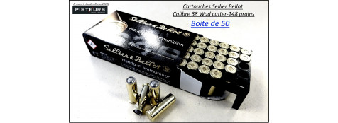 Cartouches sellier bellot 38 wadcutter par 50-poids 148 grs-Promotion-Ref 3036