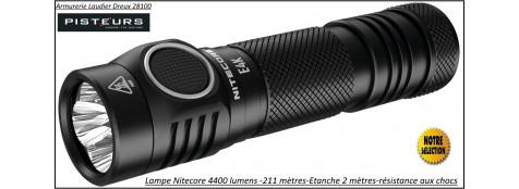 Lampe torche Nitecore E4K puissance 4400 Lumens portée 211m-Lampe torche-d'intervention et police-Ref 38666